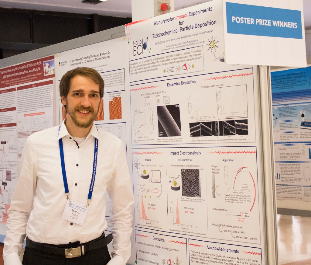 Mathies wins one of the poster prizes of ISE 2018