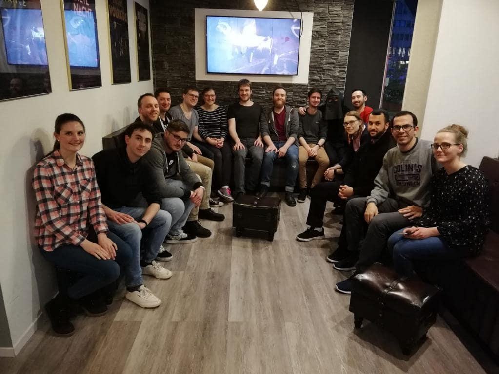 Gruppenbild des Escape-Room Events